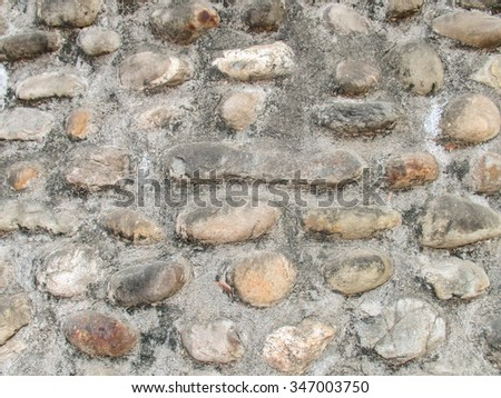 Closeup of stone wall texture
