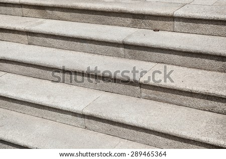 Closeup of stonemade stairs - stock photo