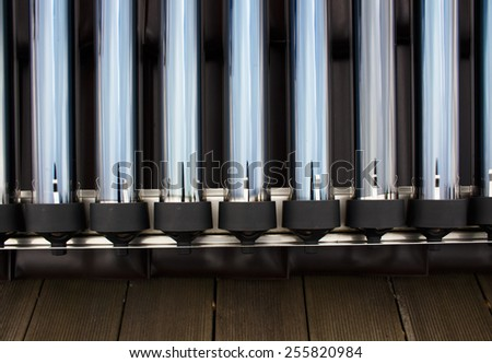 Closeup of sun collectors - stock photo