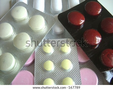 Closeup of tablets