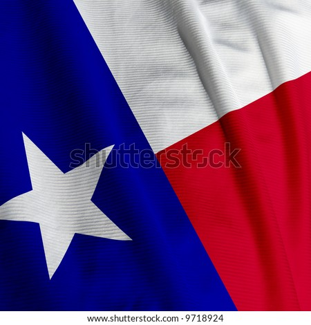 Closeup of the flag of Texas, square image