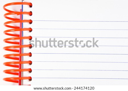 closeup of the notebook diary empty copy space - stock photo