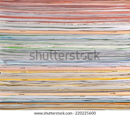 Closeup of the pattern of a stack of paper  - stock photo
