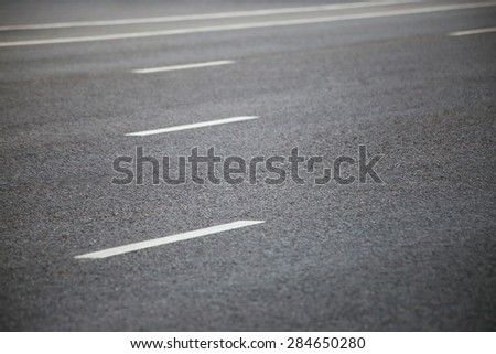 Closeup of the road with road marking