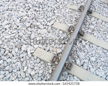 Closeup of the Straight Railway with Concrete Sleepers