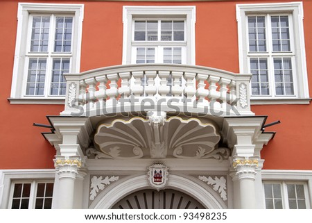closeup of the town hall in Speyer in Germany