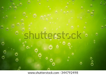 Closeup of the water with bubbles. - stock photo