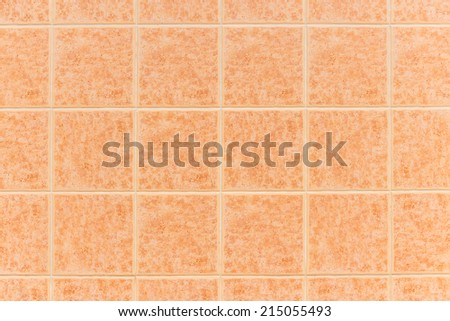 Closeup of tile wall background.