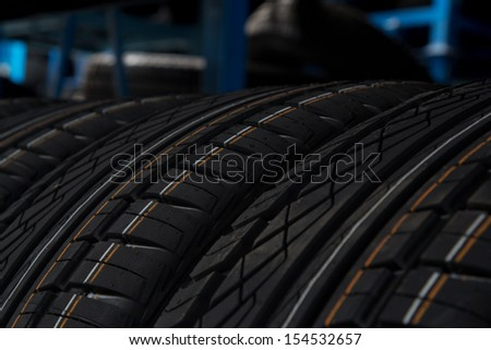 Closeup of tires