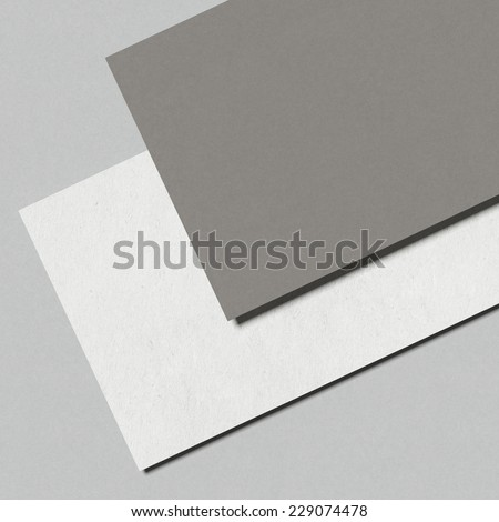 Closeup of two business cards - stock photo