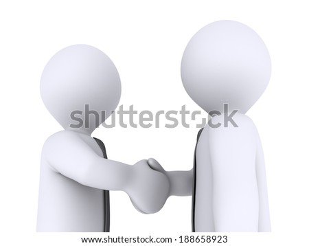 Closeup of two businessmen that shake hands