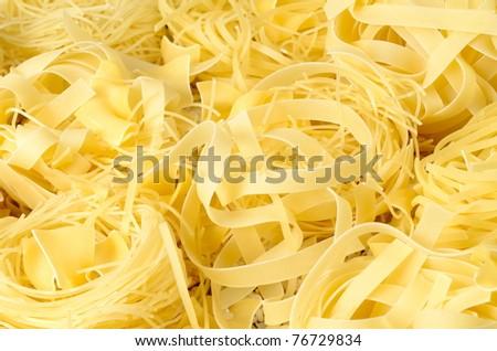 closeup of uncooked pasta - stock photo