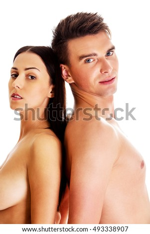 Closeup of undressed sensual couple