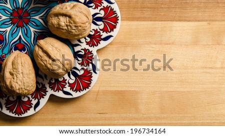 Closeup of walnuts - stock photo