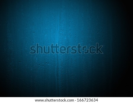 Closeup of water drops on steamed up window  - stock photo