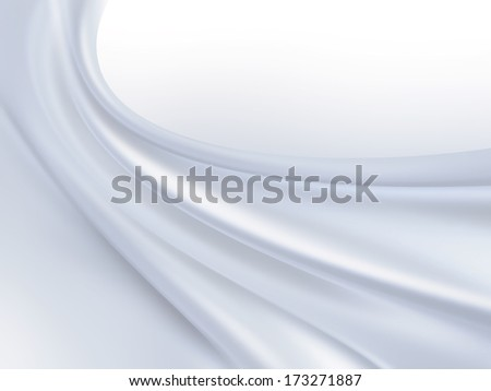 Closeup of white silk fabric as background