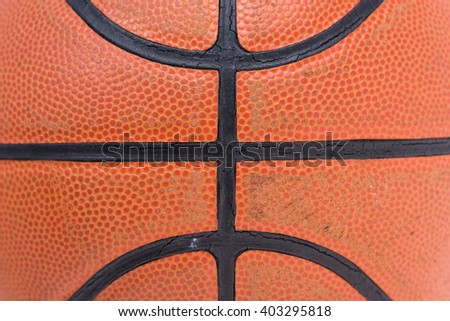 Closeup old basketball basket ball for texture background - stock photo
