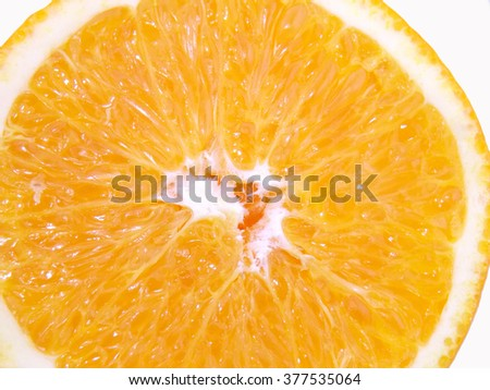 Closeup orange fruit