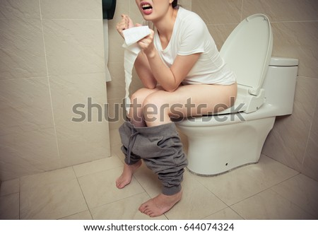 Woman Sitting On Toilet Stock Images Royalty Free Images Vectors Shutterstock