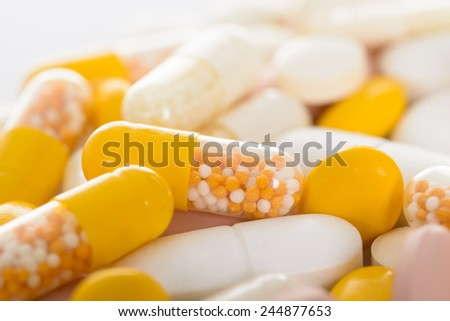 Closeup Photo Of Different Types Of Pills