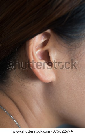 Closeup photo of ear - stock photo