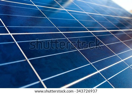 Closeup photo of solar panel