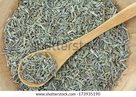 Closeup photography of dried Thyme - stock photo