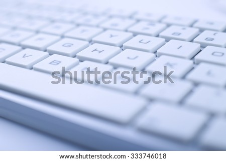 Closeup picture of keyboard of a modern computer. - stock photo
