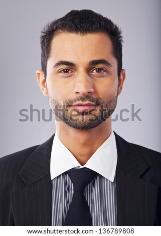 Closeup portrait of a confident middle eastern businessman - stock photo