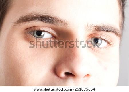 Closeup portrait of an handsome man - stock photo