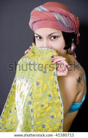 closeup portrait of attractive asian woman
