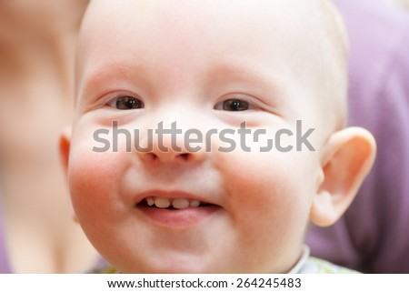 closeup portrait of happy baby