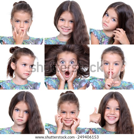 Closeup portrait of pretty little girls