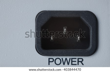 closeup power connector