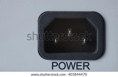 closeup power connector - stock photo