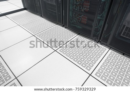Closeup Raised Floor Modern Interior Server Stock Photo Edit Now - Data center raised floor weight limits