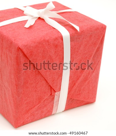 closeup red gift background