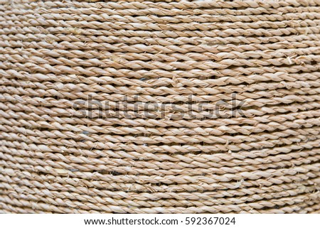 Closeup rope background. Texture