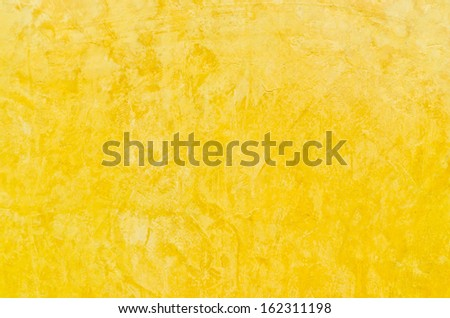 Closeup rusty scratch yellow cement wall for background user