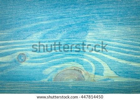 Closeup shot of blue wood plank texture, abstract textured background