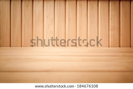 Closeup shot of brown wooden planks on floor and wall
