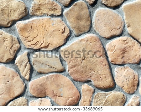 Closeup shot of house wall made from stone blocks