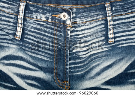 Closeup shot of striped jeans front - stock photo