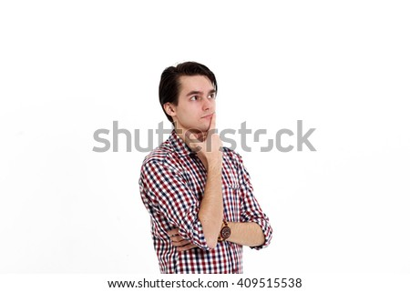 Closeup side view profile portrait of upset young man, worker, employee, business man hands in air, open mouth yelling isolated on white background