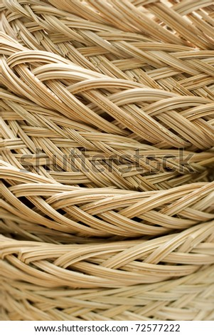 Closeup Structure of Rattan Weave Texture use a a Background - stock photo