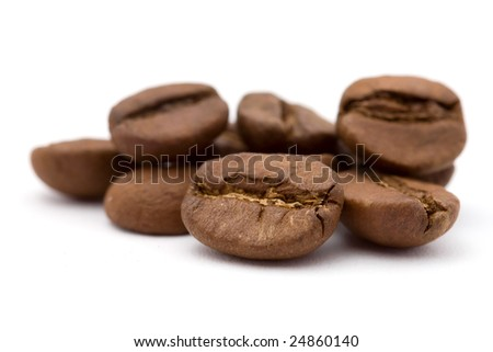 closeup studio shot of coffee beans