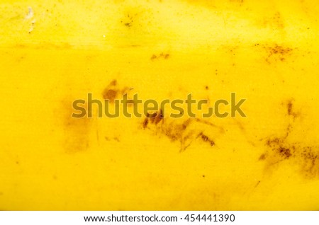 Closeup take of banana peel texture