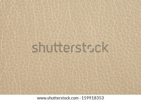 Closeup texture of beige leather for background
