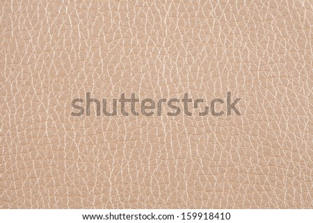 Closeup texture of beige leather for background - stock photo