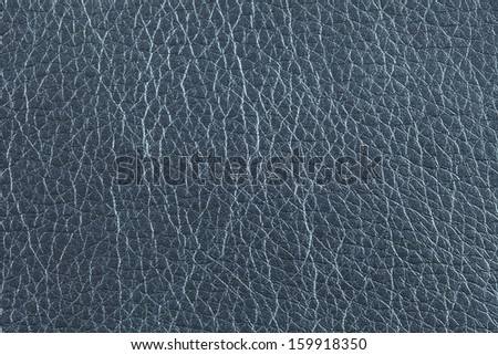 Closeup texture of blue leather for background - stock photo